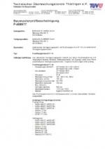 Baumusterprüfbescheinigung FT-16, gültig bis Dezember 2021